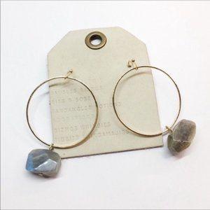 NWT Anthropologie Gray Drop Earrings
